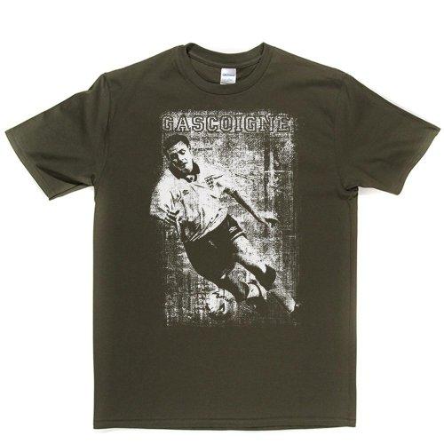 Paul Gascoigne England Gazza Football Footy T-shirt Militärgrün