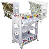 Monsieur Bébé ® Cambiador, mesa de cambio con bañera y almacenamiento - 3 colores - Norma EN 12221