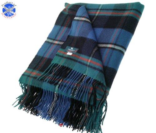 MacRae Hunting Ancient Tartan Lambswool Blanket 142cm X180cm