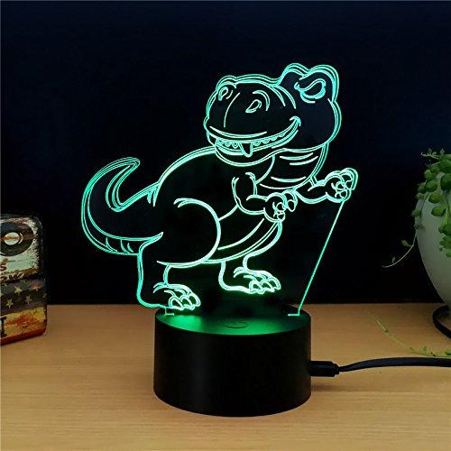 Geschenke für kinder 7 farben ändern nachtlicht fliegen dinosaurier stil led 3d kreative geschenk für kinder cartoon tischlampe dekoration schlaf beleuchtung augenpflege modus ## 2