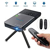 Mini Projecteur Portable, OTHA  Entrée HDMI  Vidéoprojecteur, 32GB De Mémoire, Android Smart Home Cinéma Avec Correction Automatique Keystone, Full HD Pico Projecteur DLP Wi-Fi Bluetooth