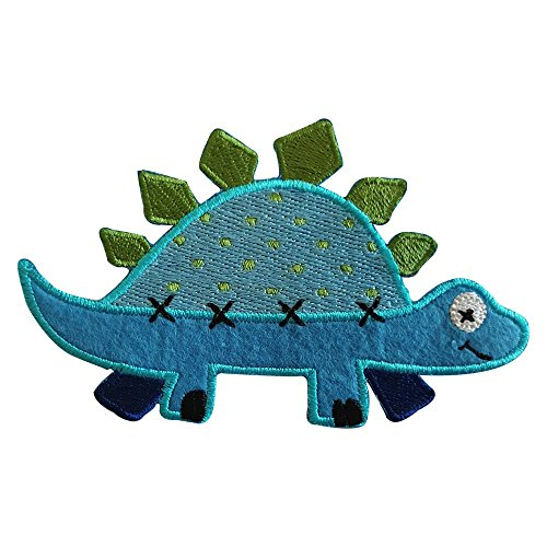 2-ecussons-patch-appliques-stegosaure-11x7cm-renne-6x9cm-thermocollant-brode-broderie-pour-vetement-