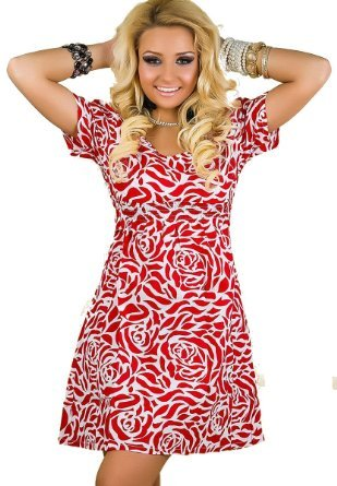 summer-ladies-girls-short-sleeve-maxi-mini-floral-multi-colour-celebrity-style-red-white-dress-fitte