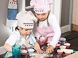 Kochmütze oder Küchenschürze & Topfhandschuh für Kinder – passend für Kinder im Alter von 3-6 Jahren - 7