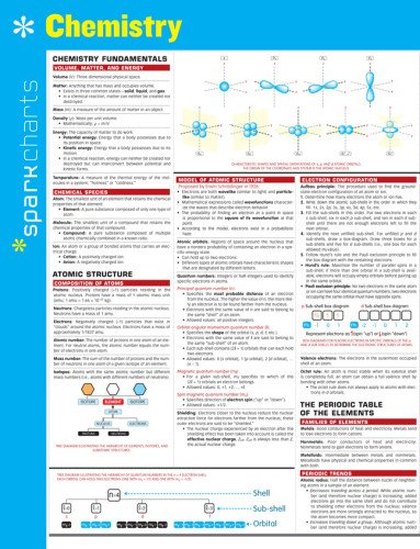 Chemistry Sparkcharts