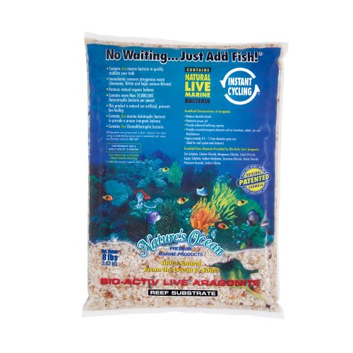 Nature`s Ocean bio-activ Live Aragonit Reef Substrat, 8 lbs (Live Sand Reef)