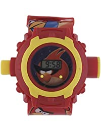 Shanti Enterprises Combo Sports Watch Multi Color Dial For Kids And Angry Bird 24 Images Projector Watch