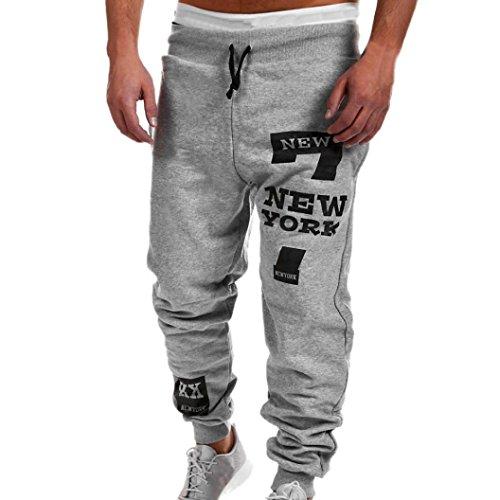 Jeans Herren,Binggong Männer Mode Hosen Männer Hosen Freizeithosen Jogginghose Lose original jeans fit skiny pants Stretch Used Design (Grau, XL)