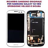 Schermo Display LCD Touch Screen Schermo Samsung Galaxy S3 Neo GT I9301 I9308 Originale Bianco White GH97-15472B Vetro Ricambio