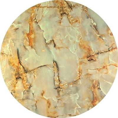 Werzalit / hochwertige Tischplatte / Marmor Onyx / runde Form 70 cm / Bistrotisch / Bistrotische / Gartentisch / Gastronomie