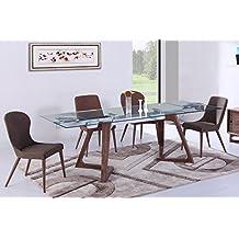 Amazon Fr Table Verre Rallonge