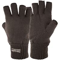 Highlander Stayner Fingerless Gloves ― 100% Acrylic ― Quality Thinsulate™ Lining ― Available in Black and Olive Green ― Small, Medium, Large and Extra Large ― Great for Walking, Hiking, Texting