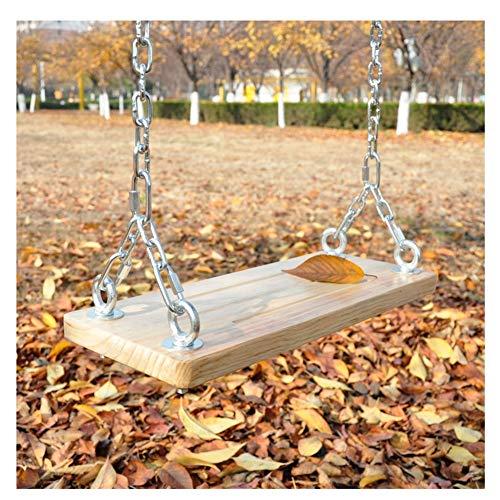 XUNN Holzschaukel mit Ketten, Kinderschaukel für den Außen- und Innenbereich,50x20cm