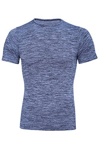 Männer-Turnhallen-T-Shirt Made in Italy Designern Fitness Kleidung T-Shirt mit Abnehmen Sport Design (Medium)