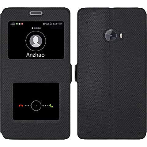 Coque Xiaomi Mi Note 2,Anzhao Flip Étui [Fermeture Magnétique] Coque