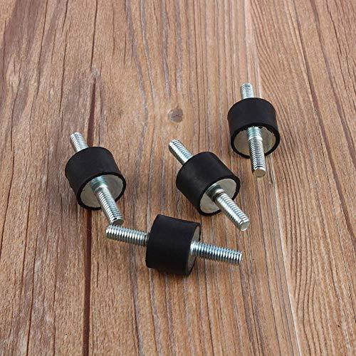 4 piezas Soportes aislantes antivibraciones goma M6