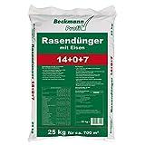 Beckmann Profi Rasendünger mit Eisen 14+0+7+(2) in 25 kg