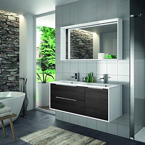 Preisvergleich Produktbild ALLIBERT Badmöbel-Set Badmöbel vormontiert schwarz Softclose Waschtisch 120 cm