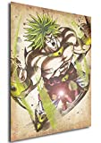 "Poster Dragon Ball ""Wanted"" Broly SSL - Formato A3 (42x30 cm)"
