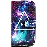 Carcasa S3 Neo Piel,Funda de Cuero de Piel Cartera Flip Case Cover para Samsung Galaxy S3/S3 Neo i9300 i9301 Funda Carcasa