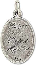 LOT of 5! Saint St St. Francis Protect and Bless My Pet Dog Cat Medal 1 Inch