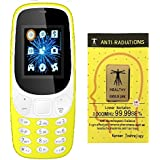 IKALL K3310 Dual Sim Mobile Phone With Anti-Radiation Sticker (YELLOW)