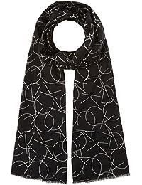 Calvin Klein Herren Halstuch CK All Over Logo Scarf Schwarz (Black 001), One Size (Herstellergröße: OS)