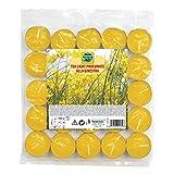 25 Tea Light O3,8x1,5cm aroma ginestra/colore giallo MondoVerde