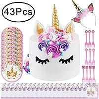 ... Topper Unicorn Party Supplies Set Kit De Vajilla Desechable Con Unicorn Mantel Unicorn Dinner Plates Unicorn Servilletas Unicorn Fork Para Baby Shower, ...