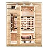 Home Deluxe – Infrarotkabine – Gobi L – Vollspektrumstrahler – Holz: Hemlocktanne - Maße: 153 x 110 x 190 cm – inkl. vielen Extras und komplettem Zubehör
