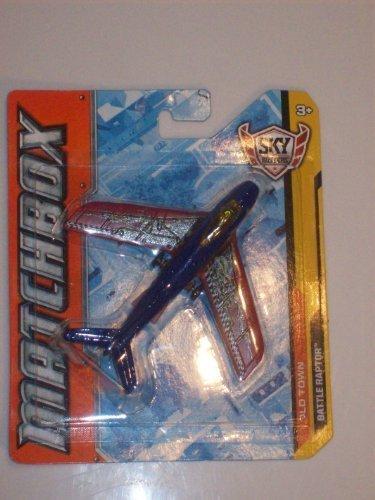 Matchbox Sky Busters 'Old Town Series Battle Raptor die Cast Vintage Recon Jet (Red & Blue Edition) (Raptor Matchbox)