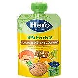 Hero - Bolsita De Fruta  Naranja, Plátano Y Galleta 100 gr - Pack de 9 (Total 900 gr)