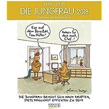 Jungfrau 2018: Sternzeichen-Cartoonkalender