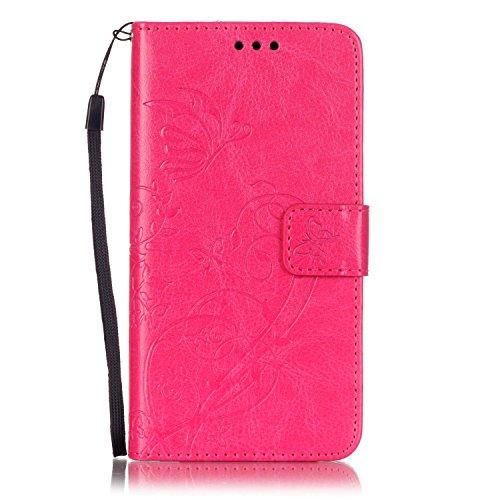 Meet de Case pour Huawei G Play Mini/ Honor 4C(5,0 Zoll), papillon print Folio Wallet flip étui en cuir / Pouch / Case / Holster / Wallet / Case pour Huawei G Play Mini/ Honor 4C(5,0 Zoll) PU Housse / gris