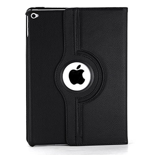Ashish 360 Degree Rotating Leather Case Cover Stand for iPad Air 2 (Black, Air 2)