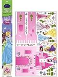 DISNEY PRINCESS - XXL Wandsticker - Aufkleber - Märchenschloss mit Rapunzel, Cinderella, Belle, Schneewittchen, Yasmin, Tiana, Aurora & Arielle - aus USA