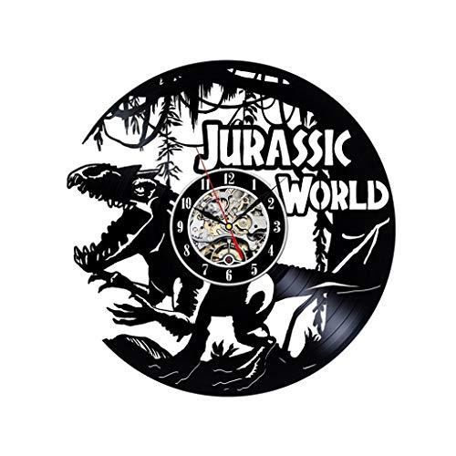 Beast Wanduhren Kein Ticken Kein Lärm Stille Vinyl Aufzeichnung Für Die Dekoration Nach Hause Restaurant Büro Und Hotel (Anzahl Schwarz) Jurassic World