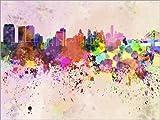 Posterlounge Forex-Platte 130 x 100 cm: Philadelphia-Skyline von Editors Choice