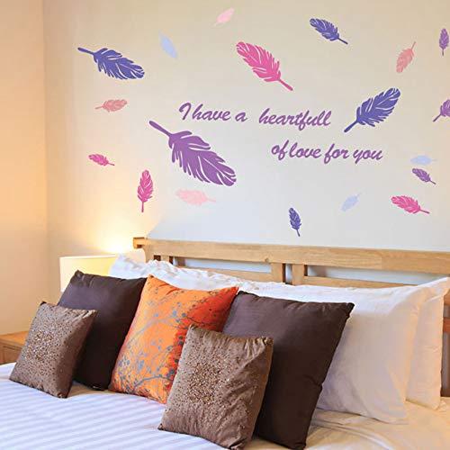 Wmbz Diy Kreative Farbige Federn Wohnzimmer Schlafzimmer Sart Sofa Hintergrund Gang Eingang Vinyl Aufkleber Wohnkultur Wandaufkleber