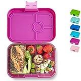 Yumbox Panino M Bento Box - mittelgroß, mit 4 Fächern | Lunchbox mit Trennwänden | Kindergarten Kinder, Schulanfang, Erwachsene (Malibu Purple)