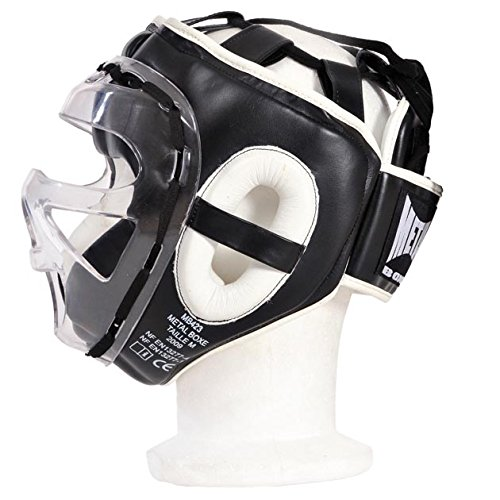 METAL BOXE MB423 - CASCO DE BOXEO  COLOR NEGRO  TALLA XL