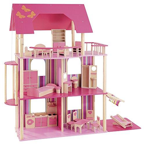 howa pinkfarbene Traumvilla für Ankleidepuppen