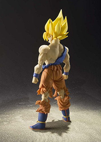 BANDAI - Figurine Dragon Ball Z - Super Saiyan Son Gokou Super Warrior Awakening S.H.Figuarts - 4543112964700 4