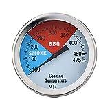 Cathy02Marshall TS-BX43/TS-BX44 100-475°F/100-550°F Edelstahl Ofenthermometer Für BBQ, Grill,Smoker,Kochen,Backofenthermometer Grill