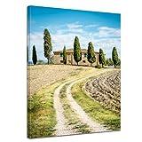 Bilderdepot24 Kunstdruck - Toskana - Italien - Bild auf Leinwand - 30x40 cm - Leinwandbilder - Wandbild