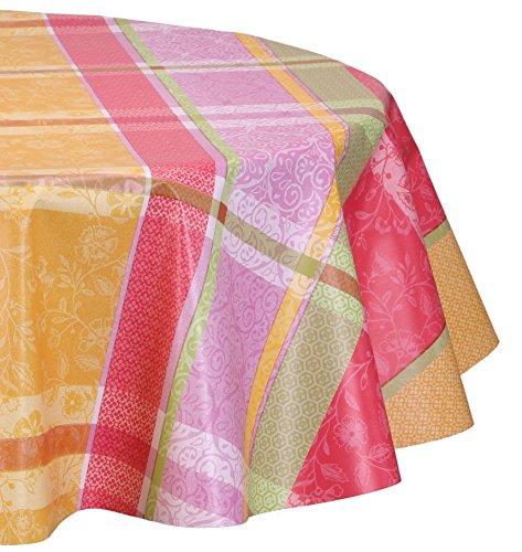 Wachstuchtischdecke abwischbar, Wachstuch OVAL RUND ECKIG, Farbe und Größe wählbar (Eckig 140x180 cm Karo Textiloptik rot)