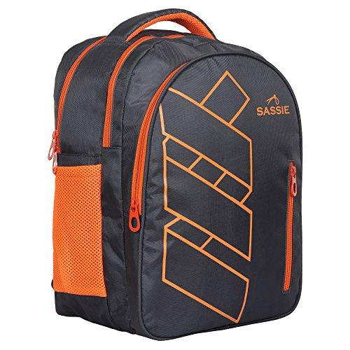 Sassie Grey Polyester 41 Ltr School Backpack Image 9
