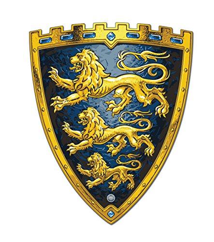 LIONTOUCH 29101 Knight Shield Tripple Lion / 3 Löwen Ritter Schild, EVA, blau/gold (1 Stück)