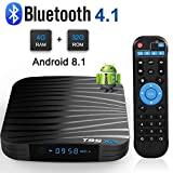 Sidiwen Android 8.1 TV Box T95X2 4GB RAM 32GB ROM Amlogic S905X2 Quad Core Reproductor Multimedia Inteligente Soporte 3D 4K Dual Banda WiFi 2.4G/5G Bluetooth 4.1 Ethernet USB 3.0 Internet Set-Top Box