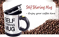DFS's High Grade SELF STIRRING MUG AUTOMATIC for Tea, Coffee, Hot Chocolate, Soup For Boys, Girls and Teenage Cup Stainless Steel (Colors may vary)